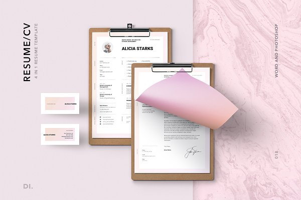 Resume Templates: Dima Isakov - BRONX Resume/CV Template + 400 Icons