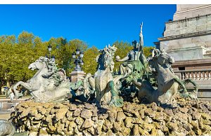 Monument aux Girondins on the Quinconces square in Bordeaux - France