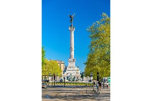 Monument aux Girondins on the Quinconces square in Bordeaux - France