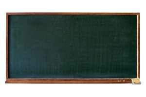 Green blank blackboard cutout