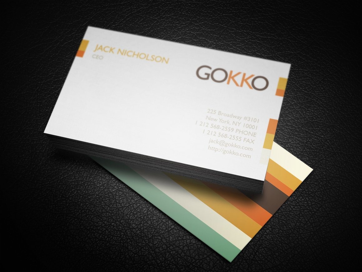 Vintage stripes business card business card templates for Corporate business cards templates