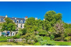 Garden on Place Gambetta in Bordeaux, France