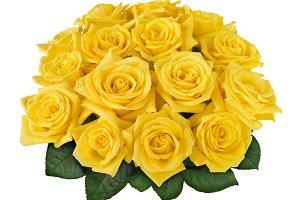 Yellow Rose Posy cutout