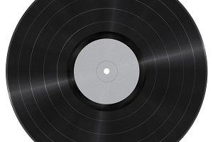 Long play Vinyl record cutout