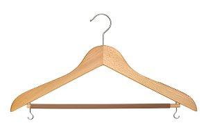 Wooden coat hanger cutout