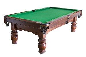 Empty billiard table cutout