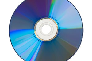DVD disk cutout