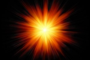Red star burst