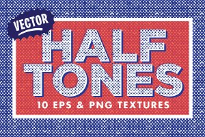 10 Vector Halftone Textures
