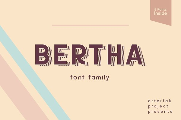 Sans Serif Fonts: Arterfak Project - Bertha