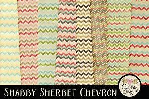 Shabby Sherbet Chevron Texture Pack