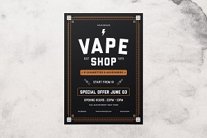 Vape Shop Flyer Menu