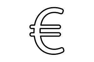 Euro line icon. Vector illustration.