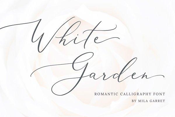 White Garden Calligraphy Logo Font