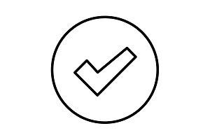 check box line icon black on white