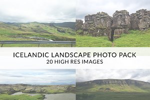 Icelandic Landscape Photo Pack!