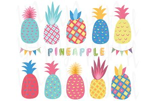Colorful Pineapple Collection