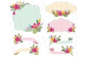 Aloha Floral Frame Set