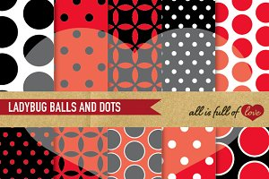 Ladybug Backgrounds Red & Black
