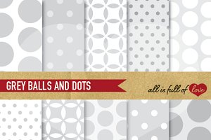 Grey Dotted Background Patterns