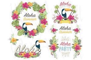 Aloha Floral Elements