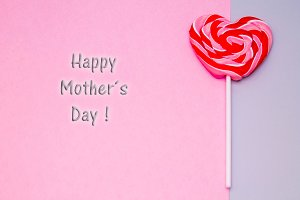 mother's day greeting card. candies