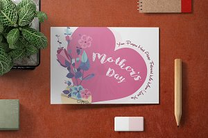 Mother's Day Card Template - V04