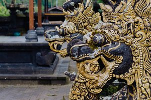 Statue of dragon in Pura Besakih Temple in Bali Island, Indonesia