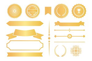 Certificate Design Elements Labels Awards Ribbons