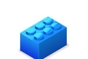 Bright colorful blue lego brick