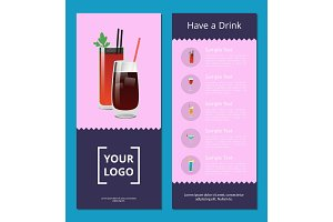 Have a Drink Poster with Bloody Mary Whiskey Cola