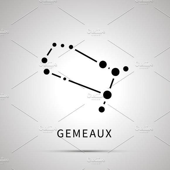 Gemini Constellation Simple Icon