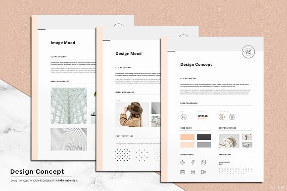 Concept Design Mood Board Templates