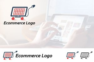 E-commerce Online Shop Cart Logo