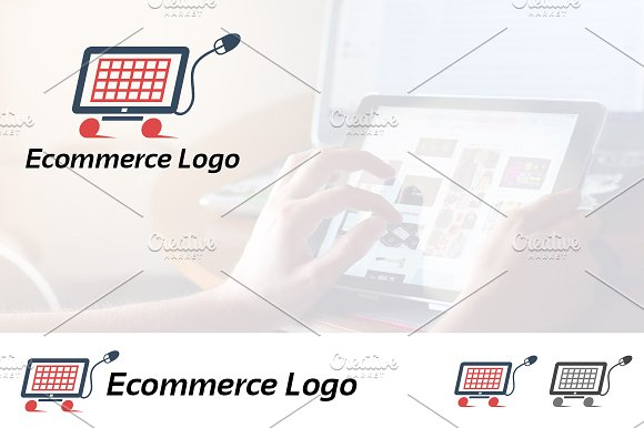 E-commerce Online Shop Cart Logo