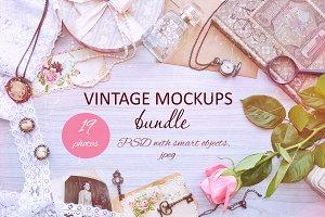 Vintage mockups bundle