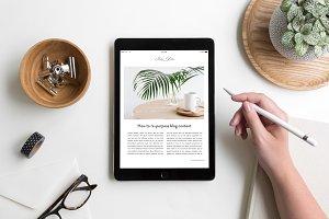 iPad Lifestyle Flat Lay Photo Mockup
