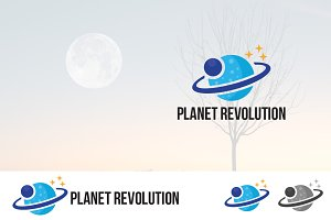 Planet Satellite Revolution Logo