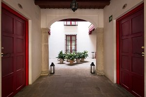 Cordoba , Spain , typical courtyard