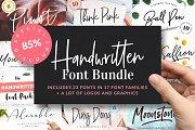 Handwritten Font Bundle is back!