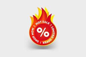 Hot Sale Label. Promo Sticker banner