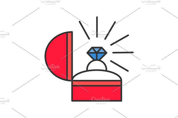 Marriage Proposal Color Icon