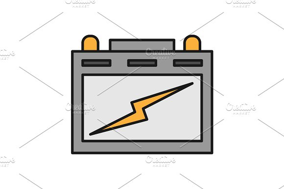 Automotive Battery Color Icon