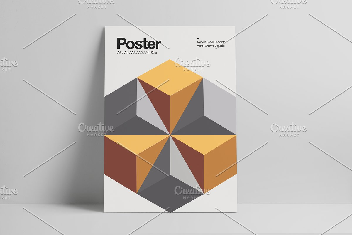 Abstract Poster Design Template Templates Creative Market