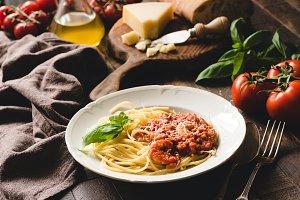 Traditional italian pasta spaghetti