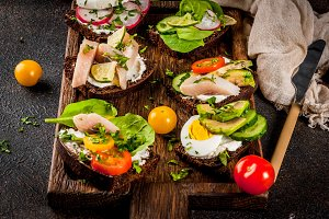 Danish sandwiches Smorrebrod