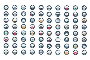 100 Cloud Computing Color Icons