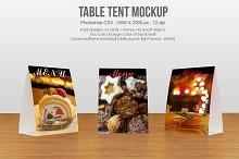 Table tent / menu Mockup