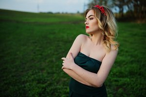 Elegance blonde girl.Spring portrait