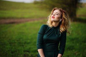 Elegance blonde girl.Spring portrait